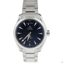 Omega Aqua Terra 150m Co-Axial Day Date Blue Dial Stainless...
