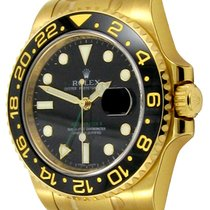 Rolex : GMT-Master II :  116718 LN :  18k Gold : black dial : NEW
