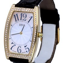 Diva Lady Watch Brilliants Yellow Gold 18 krt (45 x 27 mm)