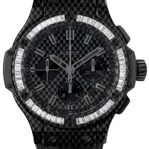 Hublot Big Bang Carbon Bezel Baguette Diamonds 301.QX.1740.HR....