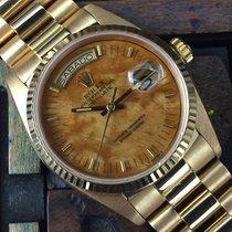 Ρολεξ (Rolex) Day Date Yellow Gold Mahogany Dial