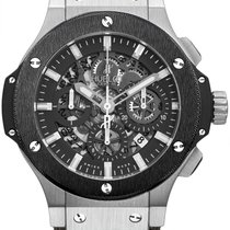 Hublot Big Bang Aero Bang Steel Ceramic Rubber Leather Men`s...