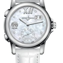 Ulysse Nardin CLASSIC DUAL TIME LADY Steel Case Dial Mother-of...