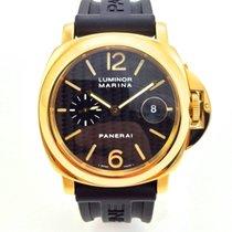 Panerai Luminor Marina Gelbgold Carbon Dial 18K 750  PAM140...