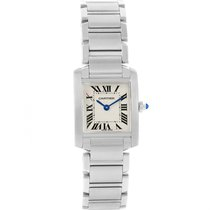 Cartier Tank Francaise Silver Dial Small Steel Womens Watch...