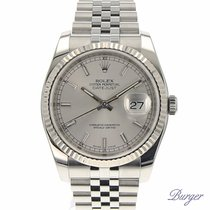 Rolex Datejust 36 Stainless Steel Fluted / Jubilee / Silver