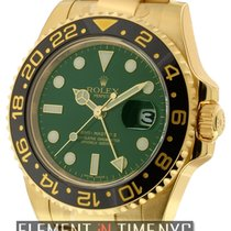 Rolex GMT-Master II 18k Yellow Gold Green Dial
