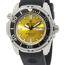 Deep Blue Sea Quest Diver 1000 Day/date Diving Watch Yellow...