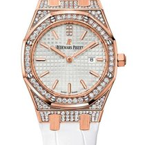 Audemars Piguet Royal Oak Quartz 18K Rose Gold Diamonds Ladies...