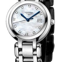Longines New Ladies Prima Luna L81104876 MOP Diamond Steel $1,375