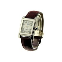 Cartier W1534351 Tank a Vis Dual Time in White Gold - on Black...