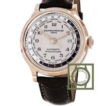 Baume & Mercier Capeland Worldtimer 18k pink gold white dial