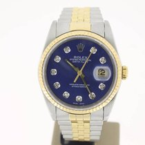 Rolex Datejust 36mm steel/Gold OCEANDIAMONDBLUE Dial (BOXonly1...