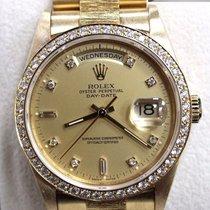 Ρολεξ (Rolex) President Day Date 18238 18k Yellow Gold Diamond...