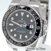 ロレックス (Rolex) Mens GMT MASTER II Steel Ceramic Watch Box/Paper...