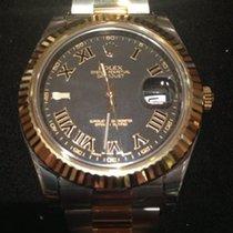Rolex Datejust II 41 Edelstahl / Gelbgold 116333 Schwarz R