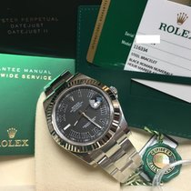 Rolex Cally - 116334 Datejust II  Black Roman Dial 41mm