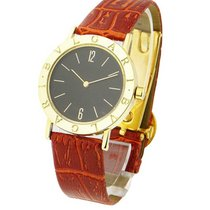 Bulgari BB 33 GL - 33mm Quartz - Yellow Gold on Strap