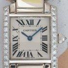 Cartier 2403 Tank Francaise Small, White Gold & Diamonds