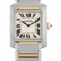 Cartier Tank Francaise Steel and 18ct Yellow Gold W51006Q4