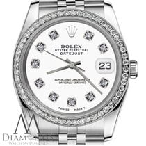 Rolex Womens Rolex 36mm Datejust Stainless Steel White Color...