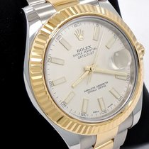Rolex Datejust II 116333 Two Tone 18k Yellow Gold/ss Ivory...