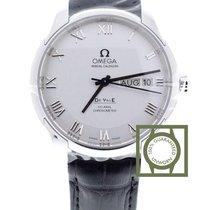 Omega De Ville Co-Axial Annual Calendar 41mm Silver Roman NEW