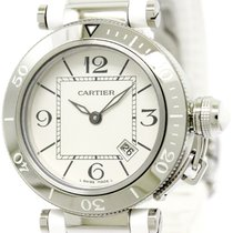 Cartier Polished Cartier Pasha Seatimer Steel Quartz Ladies...