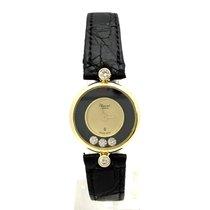 Chopard Happy Diamonds 18k Yellow Gold Ladies Watch W/ Moving...