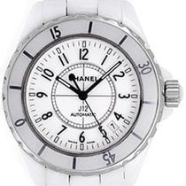 Chanel J12 White Ceramic Men's Unisex Ladies Watch H0970...
