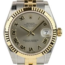 Rolex DATEJUST 36mm Steel & 18K Yellow Gold Grey Roman