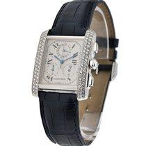 Cartier WE100451 Tank Francaise Chronoflex - Diamond Bezel -...