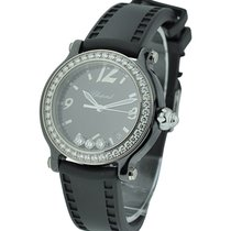 Chopard 288507-9003 Happy Sport Happy Black in Ceramic with...