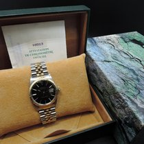 Rolex DATEJUST 16013 2-Tone SS/18k Gold ORIGINAL Black Dial...