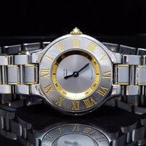 Cartier 21 Must de Cartier, Steel & Gold Plate, Boxed