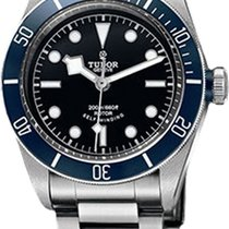 Tudor 79220B-95740 Heritage Black Bay in Steel with Blue Bezel...