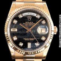 Rolex 118235 Day Date 18k Everose Ferrite Dial W/ Diamond...