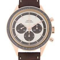 Omega Speedmaster 18k Rose Gold Silver Manual Wind 311.63.40.3...
