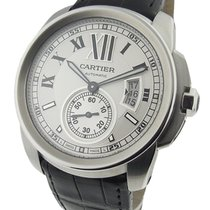 Cartier W7100037 Calibre De Cartier in Steel - On Black...