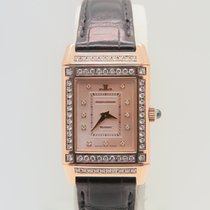 Jaeger-LeCoultre Reverso 18k Rose Gold ALL FACTORY DIAMONDS