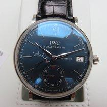 IWC Portofino Handaufzug 8 Tage Ref. 510106  blaues Blatt