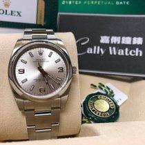 Rolex Cally - 114200 Oyster Perpetual Silver Arabic 369  銀底白369