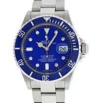Rolex Submariner 16610  Stainless Steel Blue Ceramic Diamond