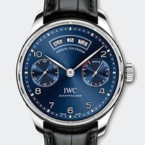 IWC PORTOGHESE CALENDARIO ANNUALE 44,2MM BLUE DIAL