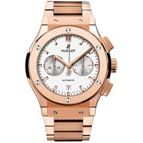 Hublot Classic Fusion Chronograph Opalin King Gold Bracelet 42mm