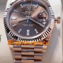 Rolex Day-Date 40 Everest Gold Baguette Chocolate Dial