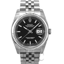 롤렉스 (Rolex) Datejust Steel Black/Steel Ø36 mm - 116234
