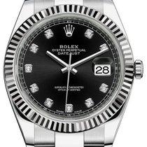 Rolex Datejust 41 126334 Black Diamond Fluted White Gold...