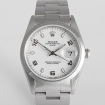 "Rolex Date 34mm ""Box and Papers"""