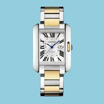 Cartier TANK ANGLAISE 39 Gold/Stahl -NEU- incl. VAT Exp. possible